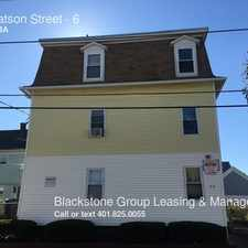 Rental info for 30 Watson Street in the Central Falls area