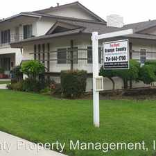 Rental info for 12551 ORRWAY DRIVE in the Garden Grove area
