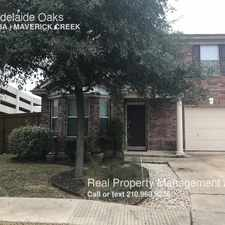 Rental info for 102 Adelaide Oaks in the San Antonio area