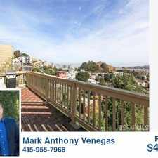 Rental info for 411 Roosevelt Way in the Corona Heights area