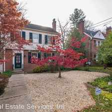 Rental info for 6343 31st Street NW in the Chevy Chase-DC area