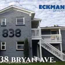 Rental info for 838 Bryan Ave