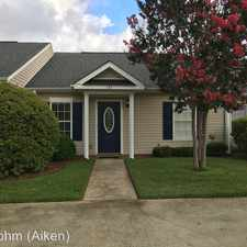 Rental info for 133 West Middlebury Lane SW in the Aiken area