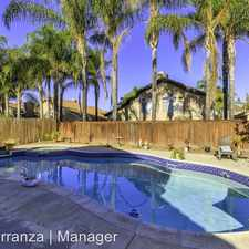 Rental info for 23816 Peach Blossom Ct in the 92595 area