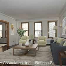Rental info for 429-431 W Roscoe St in the Chicago area