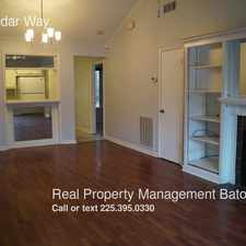 Rental info for 2272 Cedar Way in the Baton Rouge area