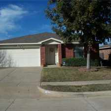 Rental info for Very nice and well kept home comes with 3 bedrooms and two full baths, two car garage. Spacious master bedroom, with a garden tub and dual sinks. Walk-in closets in all bedrooms. A separate utility room. Covered patio. Excellent schools, Crowley, TX in the Willow Creek area