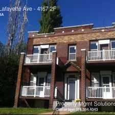 Rental info for 4167 Lafayette Ave in the St. Louis area