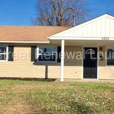Rental info for 4809 Granada Drive in the Louisville-Jefferson area