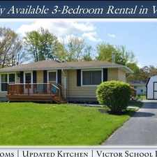 Rental info for Rarely Available 3-Bedroom Home In Victor