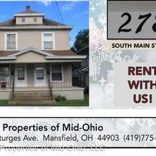 Rental info for 278 South Main St. - 278 South Main (right side)- Duplex in the 44902 area