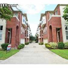 Rental info for $2400 3 bedroom Townhouse in Inner Loop Washington Ave-Memorial Park in the Houston area