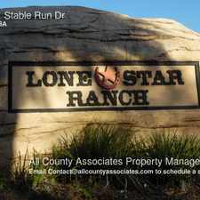 Rental info for 15921 Stable Run Dr