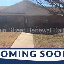 Rental info for 3212 Hastings Street in the Dallas area