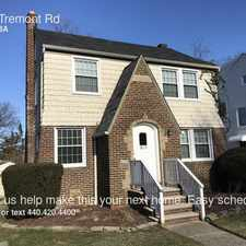 Rental info for 3815 Tremont Rd in the Cleveland area