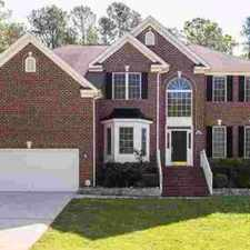 Rental info for 4510 Triland Way Cary Six BR, Stately brick-front home situated