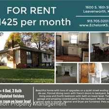 Rental info for 1400 S. 16th St