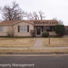 Rental info for 4507 37th St. in the Lubbock area