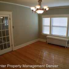 Rental info for 1151 Gaylord Street in the Denver area