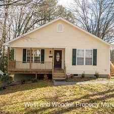 Rental info for 1314 Sedgefield Street in the Durham area