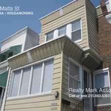 Rental info for 5920 Malta St in the Philadelphia area