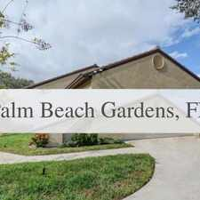 Rental info for Charming 3 Bedroom, 2 Bath. Parking Available! in the Palm Beach Gardens area