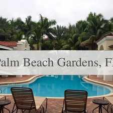 Rental info for Gorgeous Palm Beach Gardens, 3 Bedroom, 3 Bath in the Palm Beach Gardens area