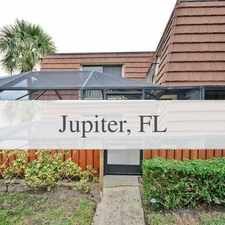 Rental info for Come Enjoy The Warm Weather In South Florida. W... in the Jupiter area