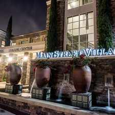 Rental info for Main Street Village in the Irvine area