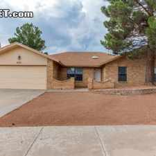 Rental info for Four Bedroom In West El Paso in the El Paso area