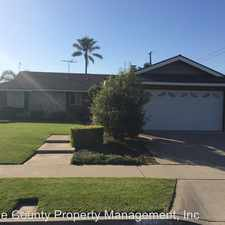 Rental info for 18585 HAWTHORN STREET in the 92708 area