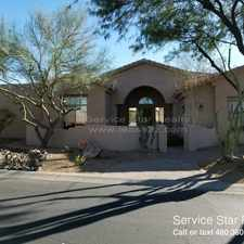 Rental info for 9615 E Peak View Road in the Scottsdale area