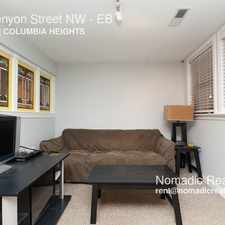 Rental info for 1309 Kenyon Street NW in the Columbia Heights area