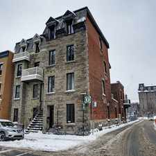 Rental info for Rue Drolet & Ave des Pins E in the Ville-Marie area