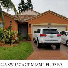 Rental info for For Rent By Owner In Miami in the Kendall West area
