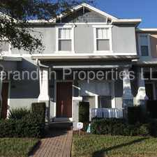 Rental info for Spacious 3/2.5 with Two Car Garage Townhouse Located in the Enclave at Moss Park - Orlando