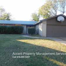 Rental info for 3194 S. 89th E. Ave. in the Tulsa area