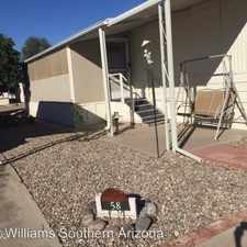 Rental info for 4439 N Old Romero Dr Space 58