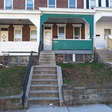 Rental info for 3205 Brighton Street in the Gwynns Falls Park area