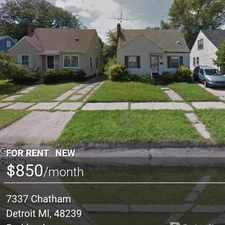 Rental info for $850 3 bedroom House in Detroit Northwest in the Detroit area