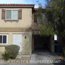 Rental info for 4984 Blue Marlin in the North Las Vegas area