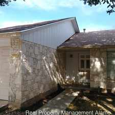 Rental info for 3119 Meadow Pass in the San Antonio area