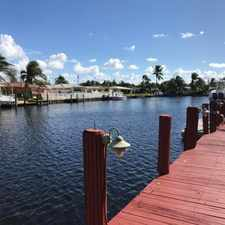 Rental info for OCEAN ACCESS 3/2 POOL HOME W/ DOCK-70 FT ON WATER-BRING BOAT $3,600 MO. *** SEE REMARKS & PHOTOS *** in the Pompano Beach area