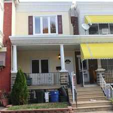 Rental info for 3987 Terrace Street in the Philadelphia area