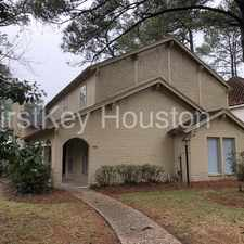 Rental info for 17415 RUSTIC PINE TRL HOUSTON TX 77090 in the Houston area