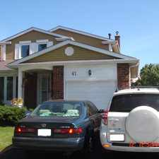 Rental info for 41 Port Royal Trail in the Markham area