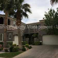 Rental info for RED ROCK COUNTRY CLUB BEAUTY!! in the Las Vegas area