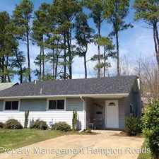 Rental info for 1083 Tall Oak Drive in the Virginia Beach area