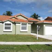 Rental info for 15633 Southwest 61st Terrace in the Kendall West area