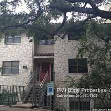 Rental info for 7738 CHAMBERS RD 910 in the San Antonio area
